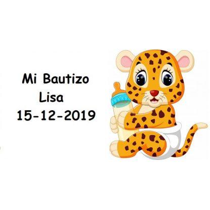 Tarjeta Bautizo Leopard Tarjetas de Bautizo Gratis0,00 €