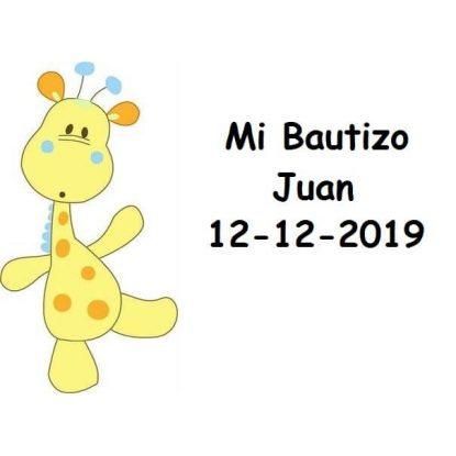 Tarjeta Bautizo Jirafa Niño Tarjetas de Bautizo Gratis0,00 €