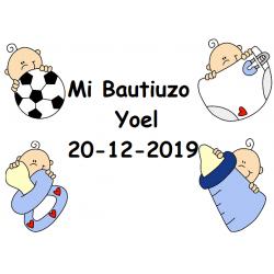 Tarjeta Bautizo Niño Feliz
