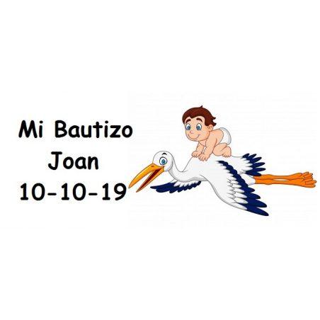Tarjeta Bautizo Niño en Cigüeña Tarjetas de Bautizo Gratis0,00 €