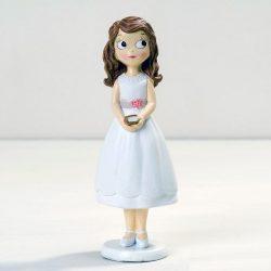 Figura Niña Comunión con Vestido Corto Figuras Tartas para Comunión