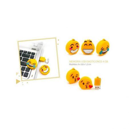 Memoria Usb Emoticonos 4GB Detalles de Boda Baratos9,10 €
