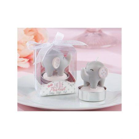 Vela Elefante Bautizo Rosa Detalles de Bautizo Baratos1,71 €