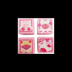 Set 24 Cajitas Baby Rosas Surtidas Detalles de Bautizo Baratos
