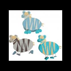 Set 15 Cajitas Azules Cebras Detalles de Bautizo Baratos