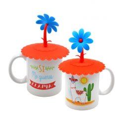 Taza LLama con Tapa Flor Tazas Personalizadas Originales6,47 €