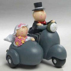 Figuras Novios Tarta Sidecar Figuras para Tartas de Boda 15,91 €