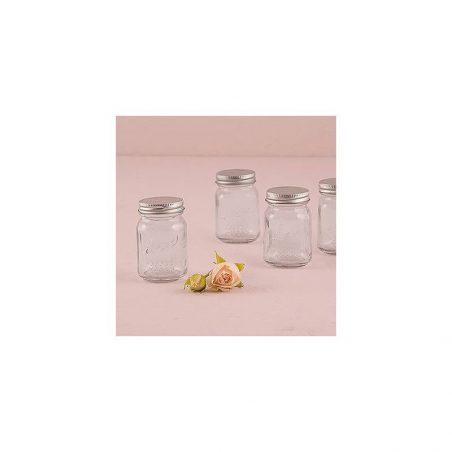 Bote de Cristal con Tapa Metálica Decoraciones de Comunión1,97 €