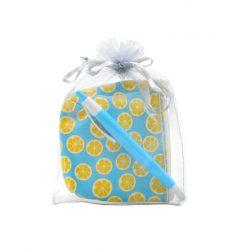 Monedero Limones con Boli en Organza Inicio