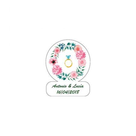 Pliego 28 Adhesivos Anillo Diamante Personalizadas2,33 €