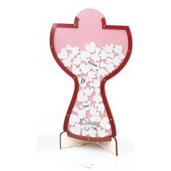 Cáliz de Deseos Rosas Decoraciones de Comunión