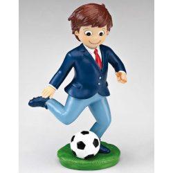 Figura Niño Comunión Traje Balón Fútbol Figuras Tartas para Comunión