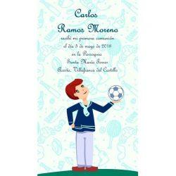 Recordatorios Comunión Marinero Fútbol