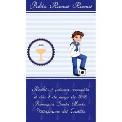 Recordatorio de Comunión Azul Fútbol Recordatorios de Comunión0,47 €