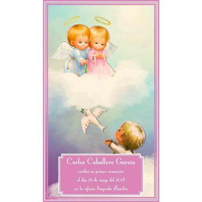 Recordatorio de Comunión Palomas y Angelitos Recordatorios de Comunión
