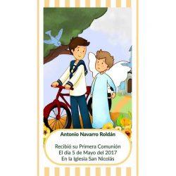 Recordatorio de Comunión Niño Bicicleta Recordatorios de Comunión