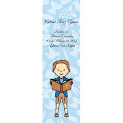 Recordatorio Comunión Niño Azul Biblia Recordatorios de Comunión
