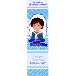 Recordatorio Comunión Niño Rezando Azul Recordatorios de Comunión