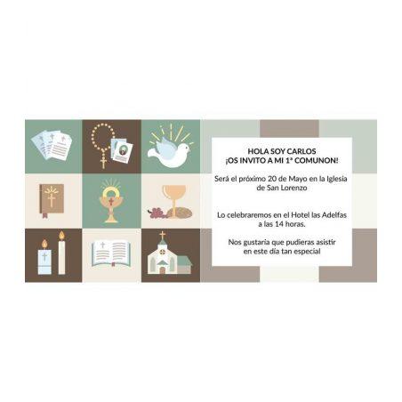Invitación Comunión Motivos Religiosos Invitaciones de Comunión0,48 €