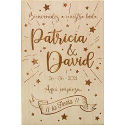 Cartel de Bienvenida Boda Estrellas Decoraciones de Boda28,60 €
