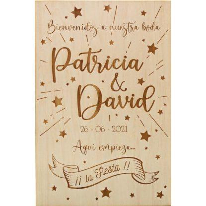 Cartel de Bienvenida Boda Estrellas Decoraciones de Boda