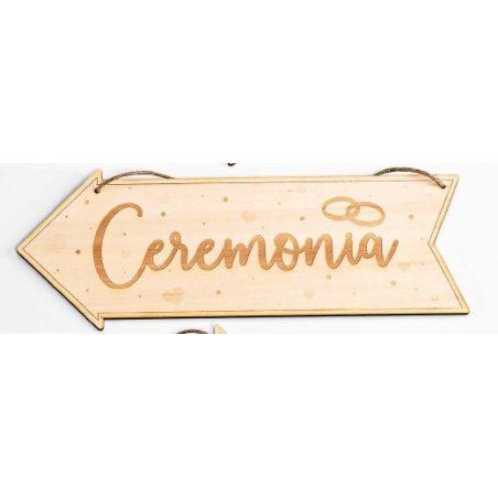 Cartel Madera Dirección Ceremonia Decoraciones de Boda8,20 €