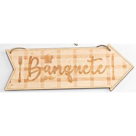 Cartel Madera Dirección Banquete Decoraciones de Boda8,20 €