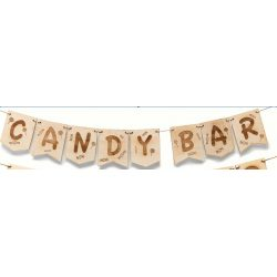 Guirnalda Madera Candy Bar Decoraciones de Boda