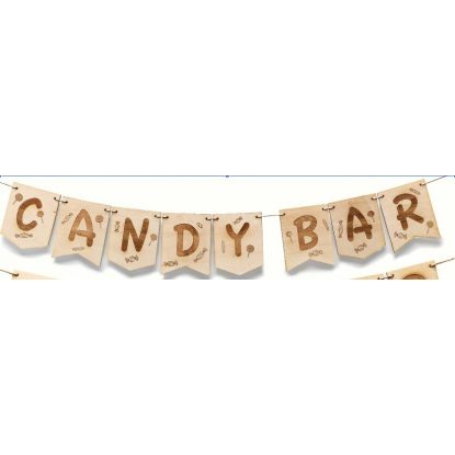 Guirnalda Madera Candy Bar Decoraciones de Boda17,56 €