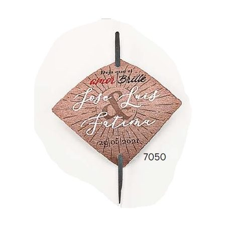 Bengala Boda Rombo Personalizada Decoraciones de Boda0,36 €