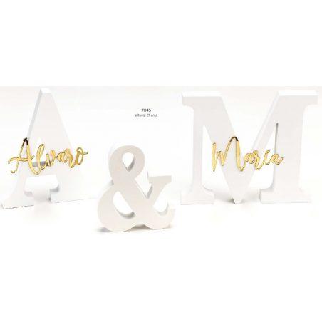 Iniciales Madera Nombres Espejos Dorados Decoraciones de Boda22,50 €