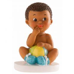 Figura Tarta Niño Moreno Pelota Figuras para Tartas de Bautizo