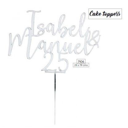 Cake Topper 25 Aniversario Decoraciones de Boda12,40 €