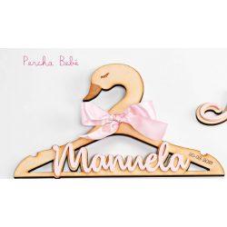 Percha Bebé Cisne Madera Rosa Regalos para Padrinos de Bautizo19,60 €