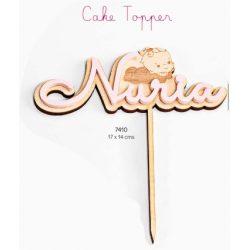 Cake Topper Bautizo Niña Figuras para Tartas de Bautizo