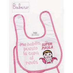 Babero Super Heroína Detalles de Bautizo Baratos7,29 €