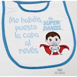 Babero Super Baby Azul Detalles de Bautizo Baratos7,29 €