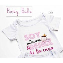 """Body Bebé """"Reina de la Casa"""" Bautizo Regalos para Padrinos de Bautizo13,60 €"""