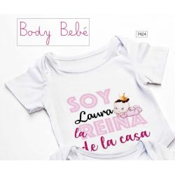 "Body Bebé ""Reina de la Casa"" Bautizo"