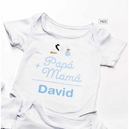 Body Bebé Papá y Mamá Bautizo Niño Regalos para Padrinos de Bautizo