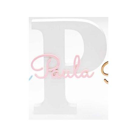 Inicial Madera Nombre Bautizo Rosa Detalles de Bautizo Baratos9,72 €