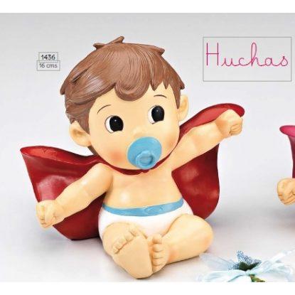 Hucha Bebé Super Héroe Figuras para Tartas de Bautizo