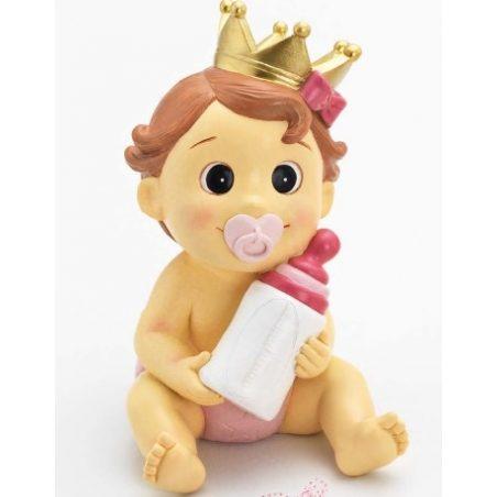 Hucha Bebé Niña Corona Rosa Figuras para Tartas de Bautizo7,52 €