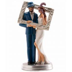 Figura Novios Photocall y Sombrero Figuras para Tartas de Boda 15,95 €