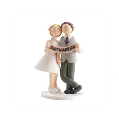 Pareja Novios Just Married Figuras para Tartas de Boda