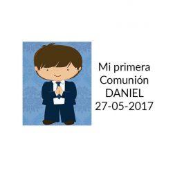 Pegatina Comunión Niño Rezando ( Pliego 40 ud)