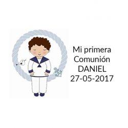 Pegatina Comunión Niño Marinero ( Pliego 40 ud)