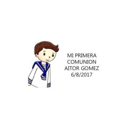 Pegatina Comunión Marinero ( Pliego 40 ud) Comuniones2,28 €