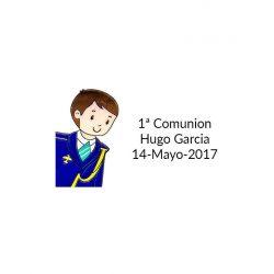 Pegatina Comunión Almirante ( Pliego 40 ud)