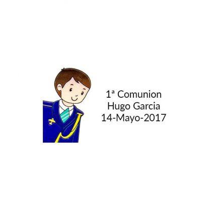 Pegatina Comunión Almirante ( Pliego 40 ud) Comuniones